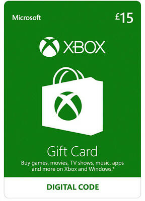 Xbox Live 15 GBP Card Microsoft UK MS £ 15 Guthaben XBOX ONE 360 Code CD Key
