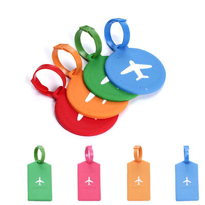 Luggage Tags Airplane Hollow-out Baggage Silicone Address Labels Round Rectangle