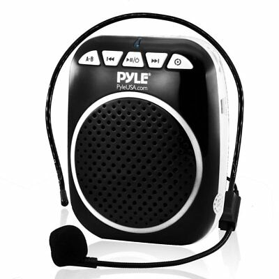 Pyle Portable Wireless Mini PA Speaker System with Headset-Microphone, Voice and
