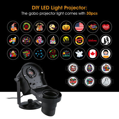 LED Light Projector Outdoor Garden Spotlight Landscape Lamp for Xmas Party Decor