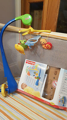 Fisher Price Mobile Cot, no batteries required, wind up, music, in box