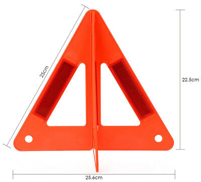Emergency Reflective Warning Triangle Auto Car Road Safety Parking Combined Type