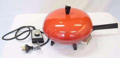 1950s Sunbeam Electric Frying Pan - 240v/750w - Red/Black #13616
