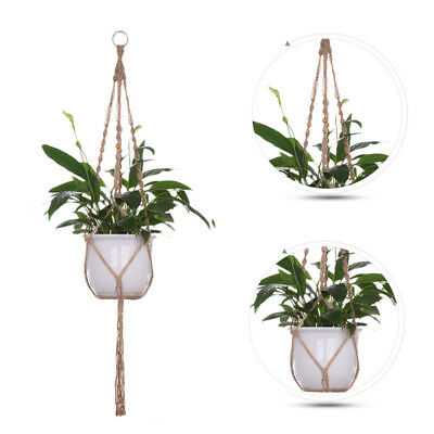 New Pot Holder Macrame Plant Hanger Hanging Planter Basket Jute Rope Braided