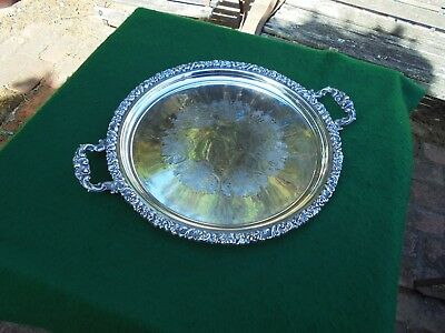 Huge Vintage Hecworth Australian Silver Plated Butlers Serving Tray