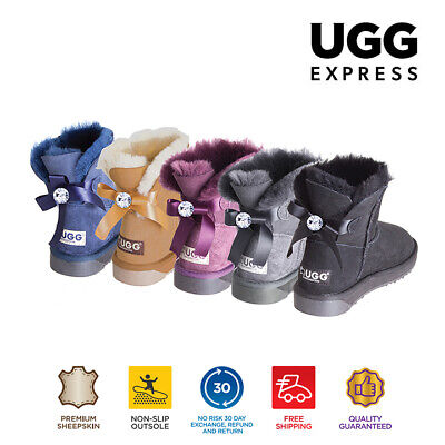 UGG Boots Ladies Bailey Bow Fashion Mini Classic with Crystal