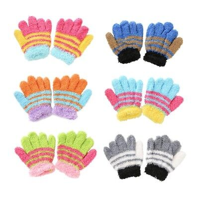 Fashion Baby Winter Warm Gloves Kids Boys Girls Feather Cute Mittens Gifts
