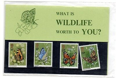 GB 1981 Scottish Wildlife Trust Butterflies private Presentation Pack VGC Stamps