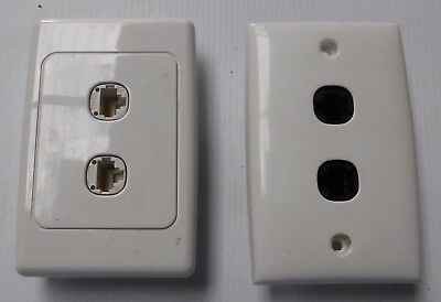 2 x wall mount twin outlet RJ45 ethernet socket krone insulation displacement
