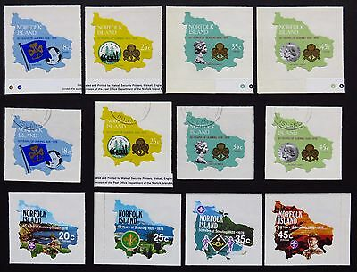 NORFOLK ISLAND 1978 GIRL GUIDES  & SCOUTING 50th ANNIVERSARY UNHINGED STAMPS