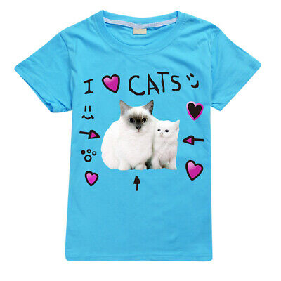 dannisdaily I Love Cats Roblox Kid's T-Shirt Size 1-12 AU Shop