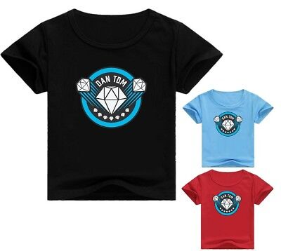 Dan TDM The Diamond Minecraft Kid's T-Shirt Size 2-12 AU Shop