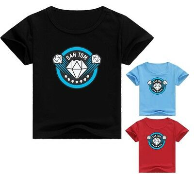 Dan TDM The Diamond Minecraft Kid's Unisex T-Shirt Boys Girls Size 2-12 AU Shop