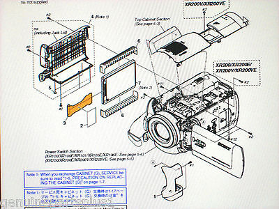 Genuine  Parts For Sony Hdr-Xr100 Xr200