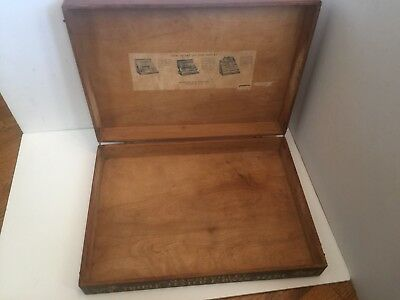 Antique Mandeville Flower Seed Box General Store Display Dovetail Nice Oak Large