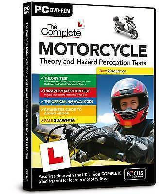 The Complete Motorcycle Theory and Hazard Perception Tests PC DVD ROM 2017