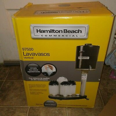 Hamilton Beach Commercial Submersible Glass Washer, Black