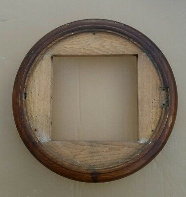 "FUSEE CLOCK DIAL SURROUND FOR 12"" dial SOLID OAK RESTORATION PART FRESH FIND"