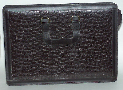 Black Crocodile EEUCmbossed Leather Business Briefcase Tote