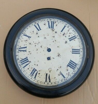 """FUSEE CLOCK DIAL MOVEMENT ETC FOR 10"""" dial EBONISED RESTORATION PART FRESH FIND"""