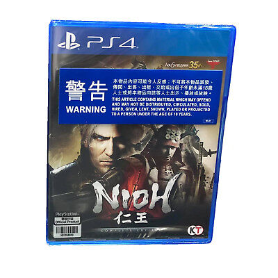 NIOH Complete Edition PlayStation PS4 2017 English Chinese Japanese