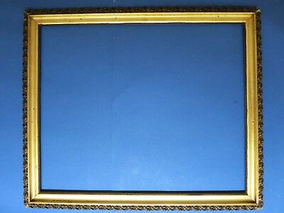 """19th Century Antique ~Fits 20.75 x 25.25~ Gold Gilt Wood Picture Frame 24"""" x 29"""""""