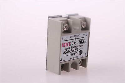 SSR-25D Solid State Relay 24-380VAC 3-32VDC Amp Model DC Input AC Output From US