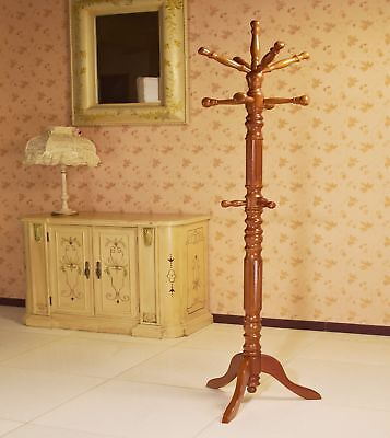 Wooden Antique Vintage Coat Hat Purse Hanger Stand Rack Hook Holder Furniture