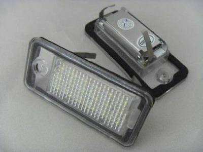 Audi A3 8P Hb A4 B6 B7 A6 C6 A8 Q7 Set 2 X Number Plate Lamp Light Led New ;;;