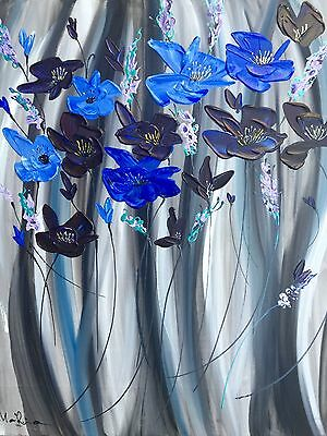 Original Oil And Acrylic Painting, Direct From The Artist, Royal Poppies