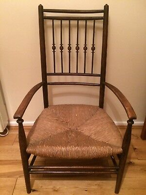 Antique Chair With Rush Weaving Seat