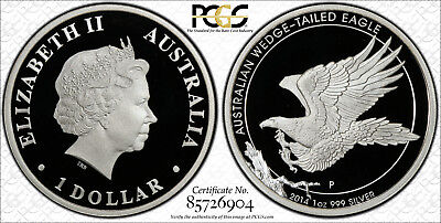 2014 Australian Wedge Tailed Eagle 1 oz Silver Proof Coin PCGS PR70DCAM Secure+