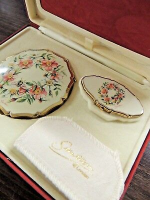 Vintage Stratton of London Compact Powder and Lipstick Holder Mirror Boxed