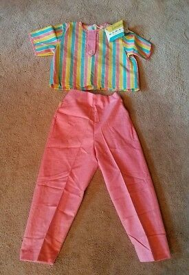 Deadstock 50s Girls Size 6 Set in Candy Colors 50s 60s