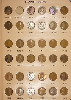 1909-1958 Wheat Cent Album COMPLETE*VERY HIGH GRADE*BU EARLY DATES*MANY RED & RB