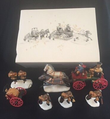 DEPT 56 Heritage Village - The Fire Brigade of London Town - Set of 5