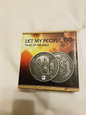 2015 Burkina Faso let my people go 1 ounce silver coin