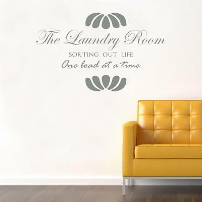 Laundy Room Sorting Out Life Decal WALL STICKER Lettering Decor Art Quote SQ89