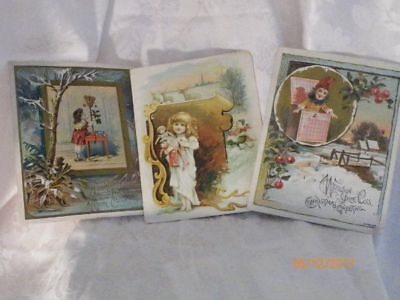 Victorian  Christmas Trade Card Lion Coffee Lot ~ ( 3 )~ Advertising Collectable