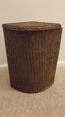 Original Vintage Lloyd Loom Lusty Gold Corner Linen Basket Shabby Chic/Upcycle
