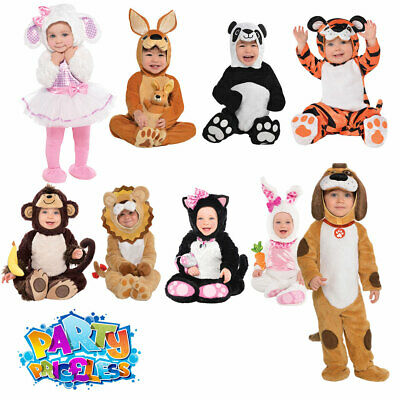 Baby Toddler Animal Costume Monkey Lamb Cat Lion Dog Tiger Rabbit Fancy Dress