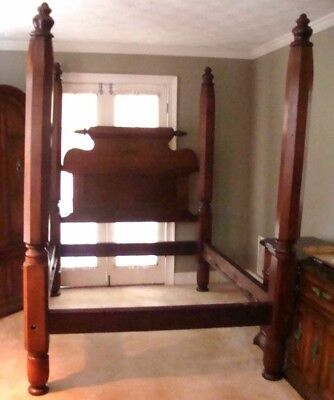 Antique Walnut Poster Bed from Middleton Place Charleston S.C.