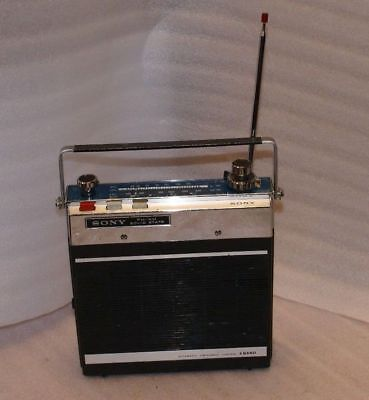 Sony 7F 74DL Vintage 11 Transistor Model Car Portable 4 Band Radio AS IS