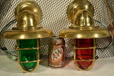 Pair of Bulkhead lights with Green and Red Lenses