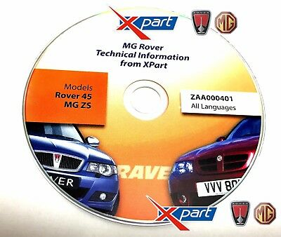 Mg Zs / R45 Genuine Mg Rover Xpart Technical Information Rave Disc