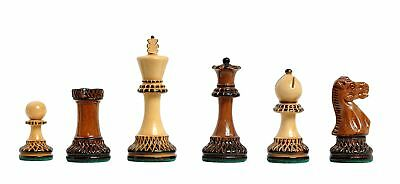 "Burnt Golden Rosewood Grandmaster Series Chess Set - Pieces Only - 4.0"" King"