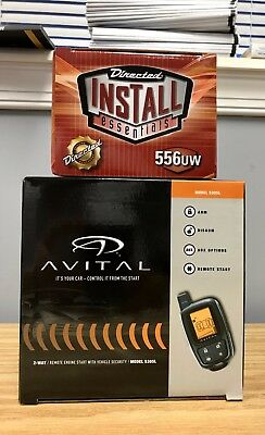 Avital 5305L 2-Way Remote Start & Car Alarm + 556UW Bypass - Bundle - 2 items !