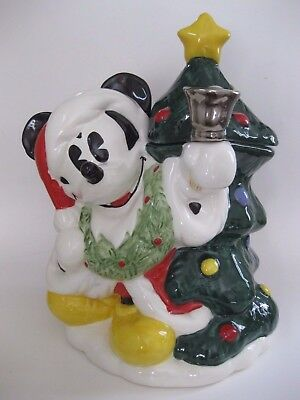 Mickey Mouse Christmas Tree Cookie Jar Disney Treasure Craft  NEW in Box MIB