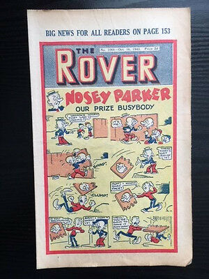 The Rover comic No. 1068 - October 16, 1943 - vintage and rare!