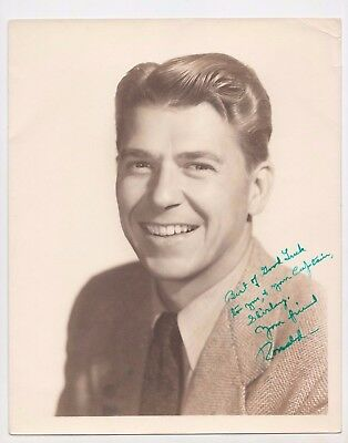 US President Ronald Reagan Nancy Signed Autograph 8x10 Promo Photograph Picture
